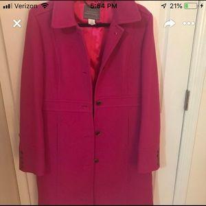 Jcrew pea coat pink